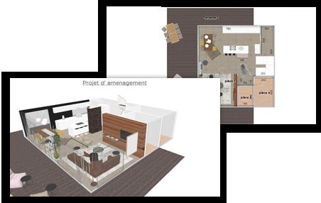 Rénovation, projets 3D, Kubo Deco, Morges, Suisse Romande, aménagement intérieur, décoration